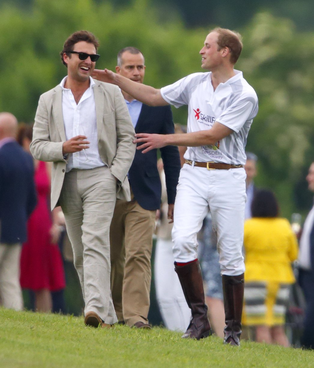 Prince Williams with Thomas van Straubenzee. | Source: Getty Images