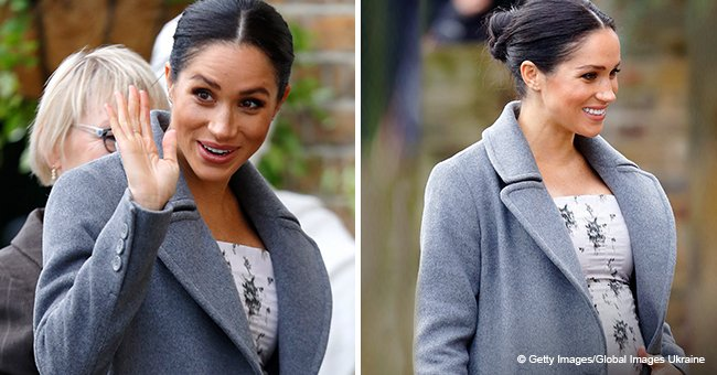 'I'm feeling very pregnant today,' Meghan Markle shows off her baby bump during nursing home visit