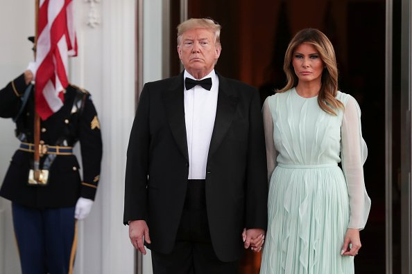 US President Donald Trump and First Lady Melania Trump at a state dinner, September 20, 2019 | Photo: Getty Images