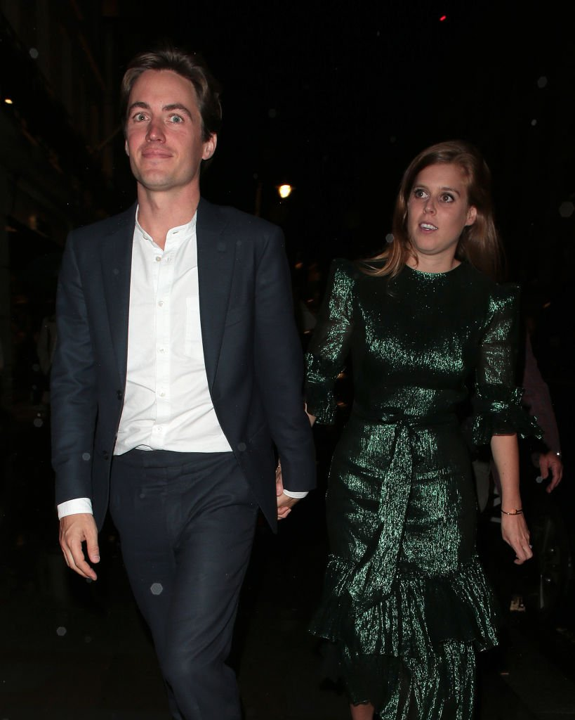 Edoardo Mapelli Mozzi and Princess Beatrice of York seen attending The Dior Sessions - book launch party at Dior Boutique | Photo: Getty Images