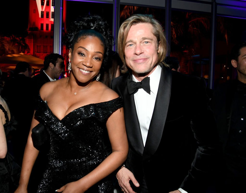 Tiffany Haddish and Brad Pitt attend the 2020 Vanity Fair Oscar Party hosted by Radhika Jones at Wallis Annenberg Center for the Performing Arts on February 09, 2020. | Photo: Getty Images