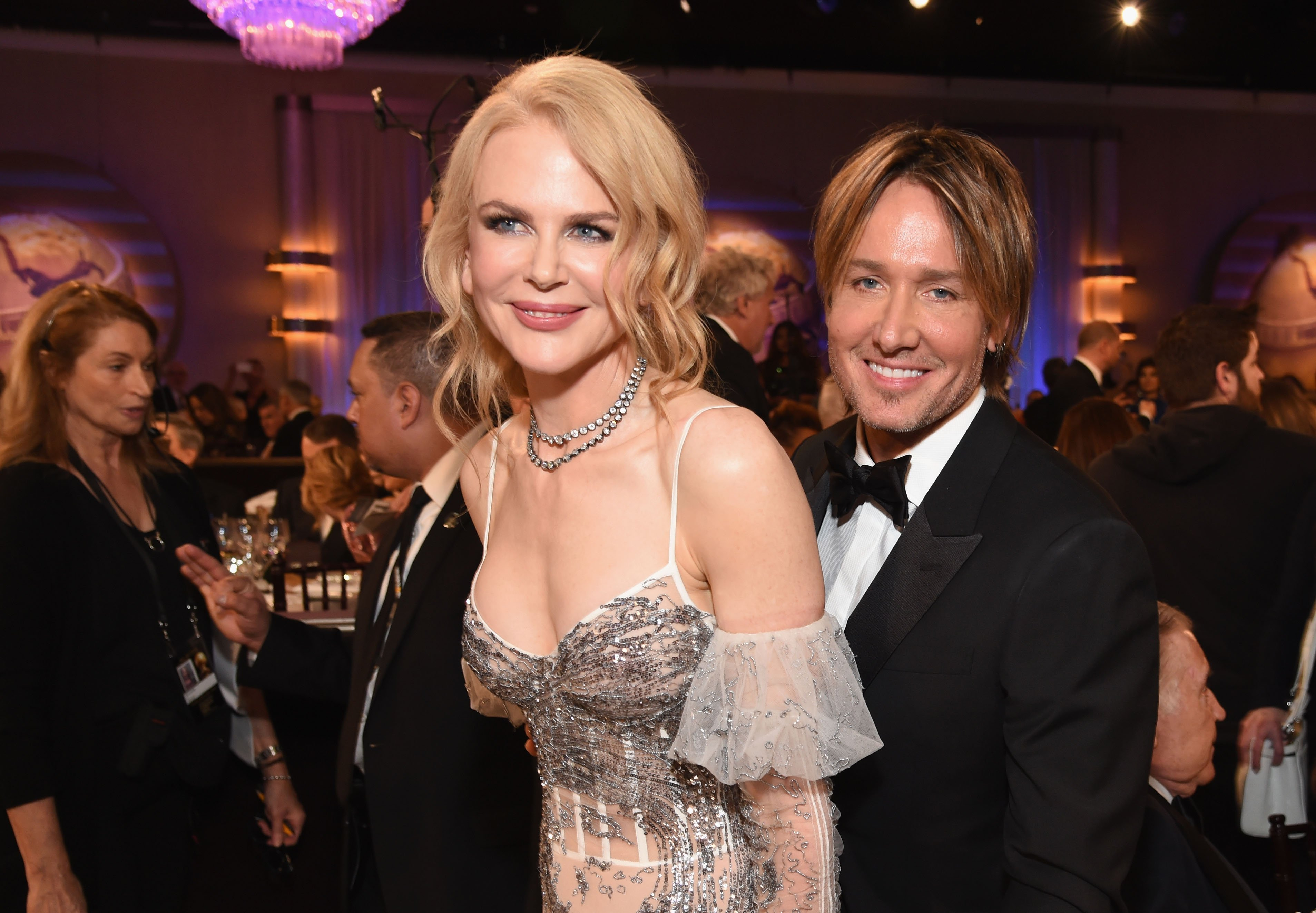 Nicole Kidman & Keith Urban at the 74th Annual Golden Globe Awards on Jan. 8, 2017 in California | Photo: Getty Images