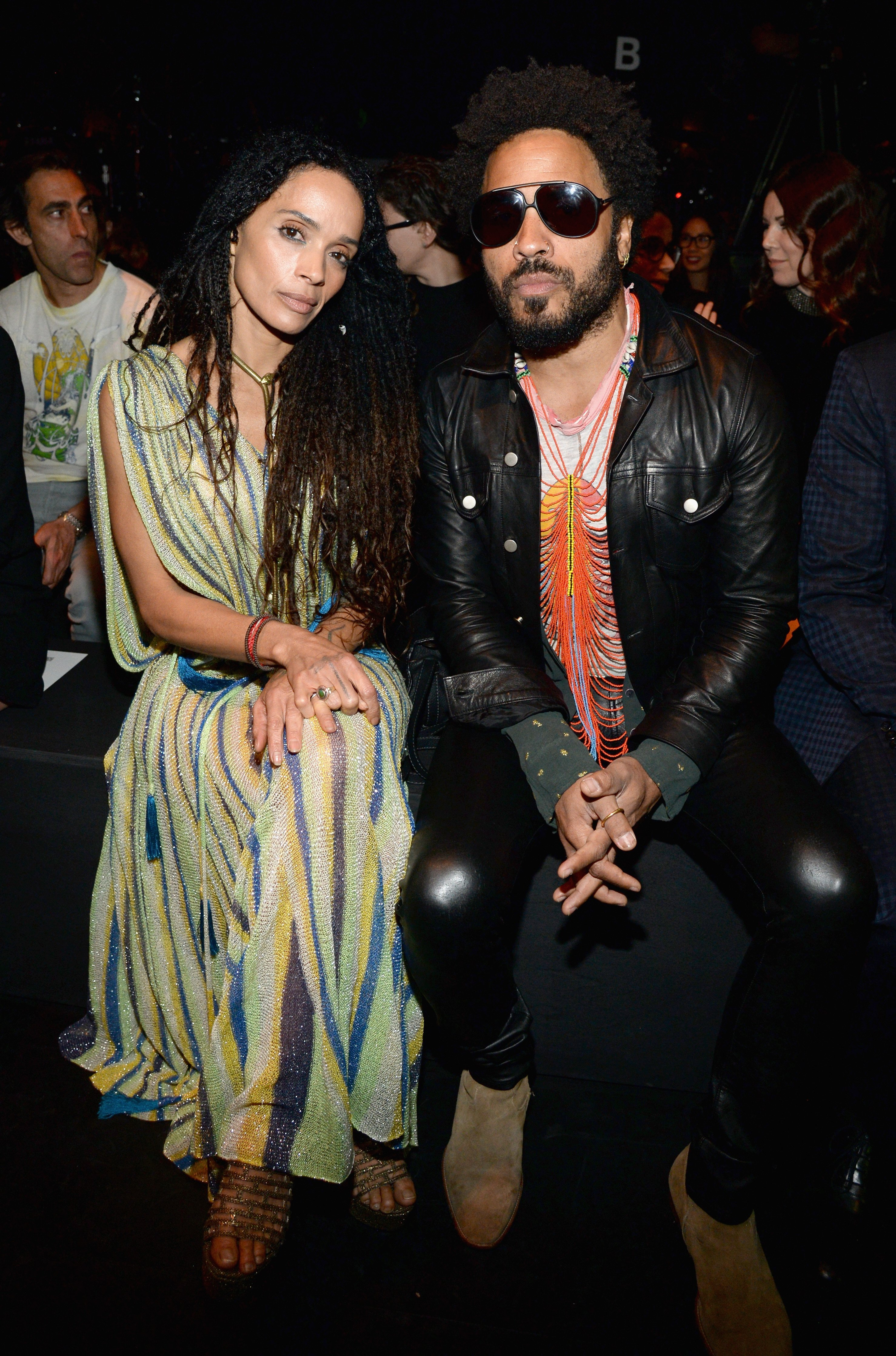 Lisa Bonet and Lenny Kravitz attend Saint Laurent at the Palladium on February 10, 2016 in Los Angeles, California. | Source: Getty Images