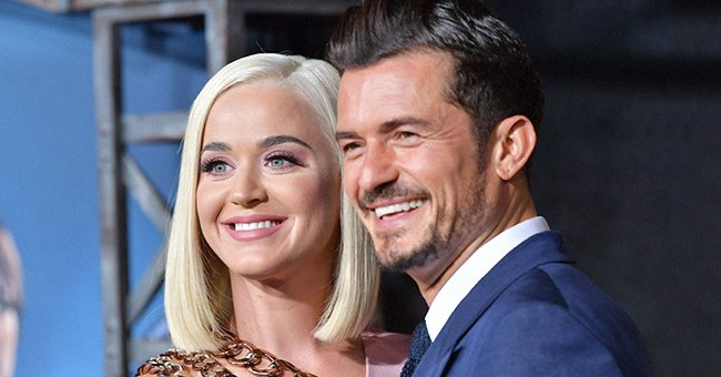 """Katy Perry and Orlando Bloom attend the Los Angeles premiere of Amazon's """"Carnival Row"""" at TCL Chinese Theatre on August 21, 2019. 