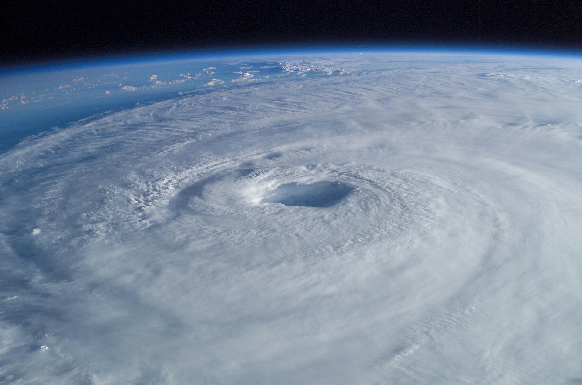 Pictured - An aerial view of a tropical cyclone | Source: Pixabay