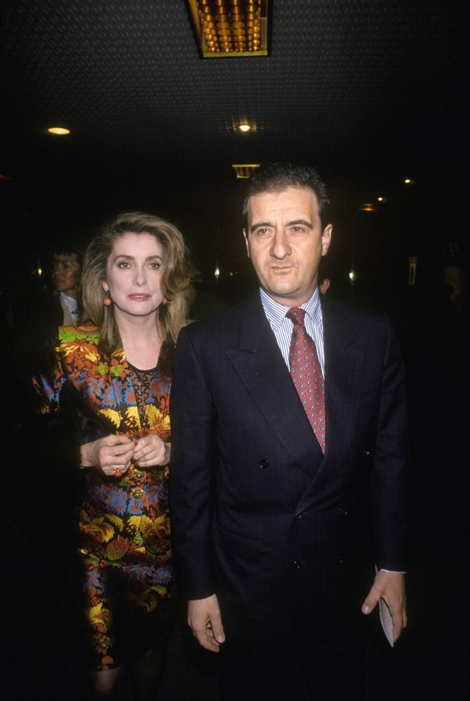 Pierre Lescure et Catherine Deneuve | Photo : Getty Images