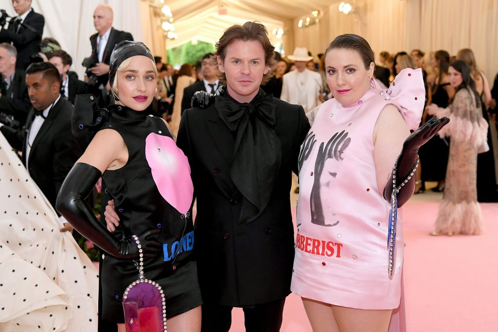 Jemima Kirke, Christopher Kane, and Lena Dunham attend the 2019 Met Gala, May 2019 | Source: Getty Images