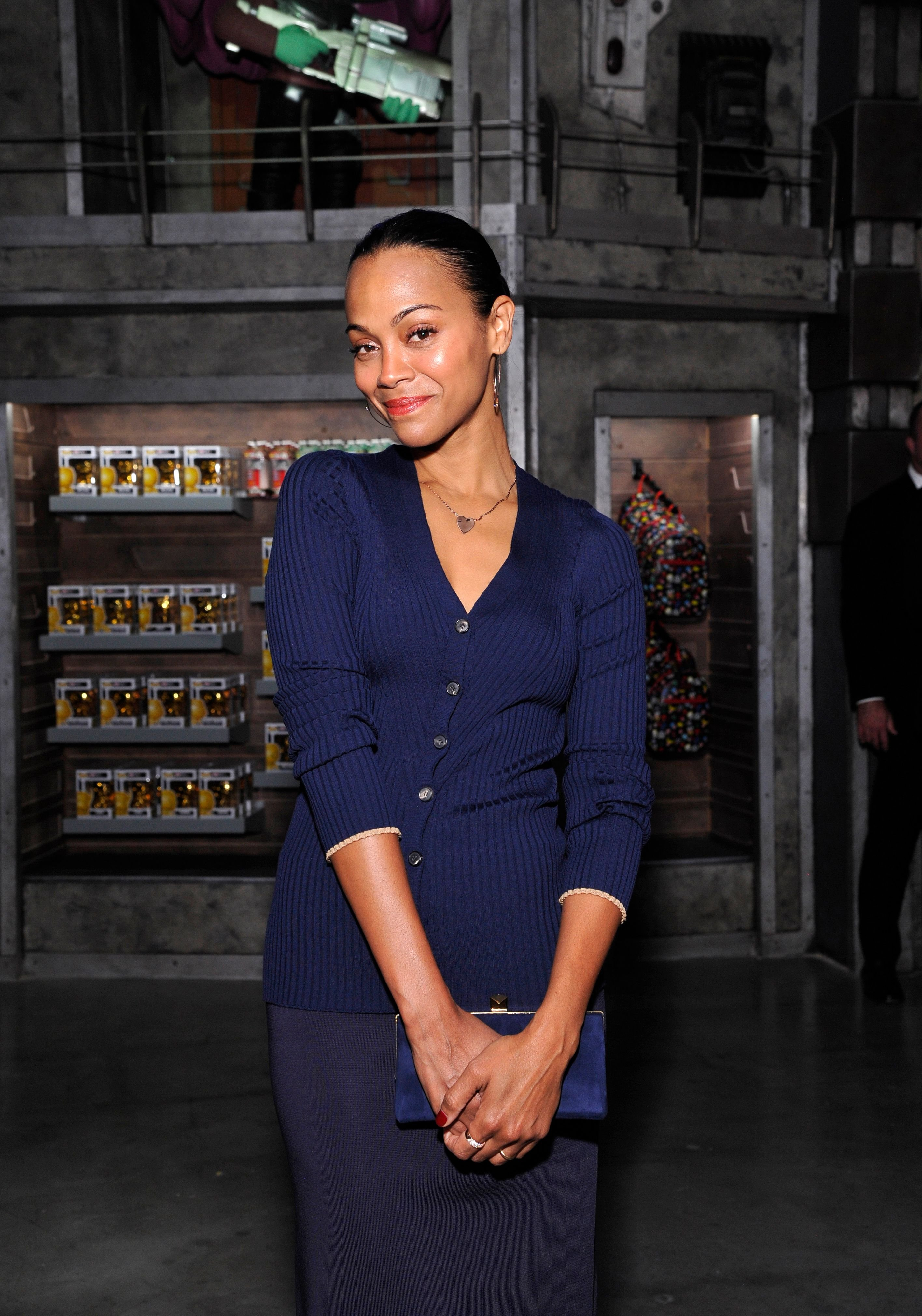 Zoe Saldana attends the Funko Hollywood VIP Preview Event at Funko Hollywood on November 07, 2019 in Hollywood, California. | Source: Getty Images