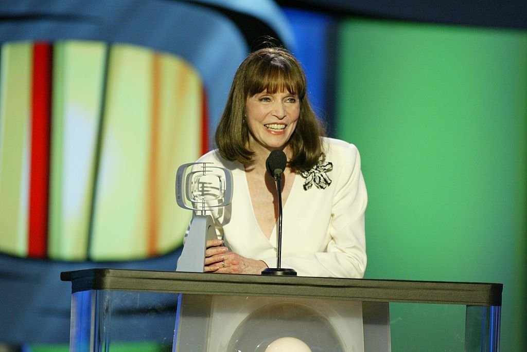 """Actress Barbara Feldon accepts her Hippest Fashion Plate, Female award for """"Get Smart"""" during the TV Land Awards 2003 