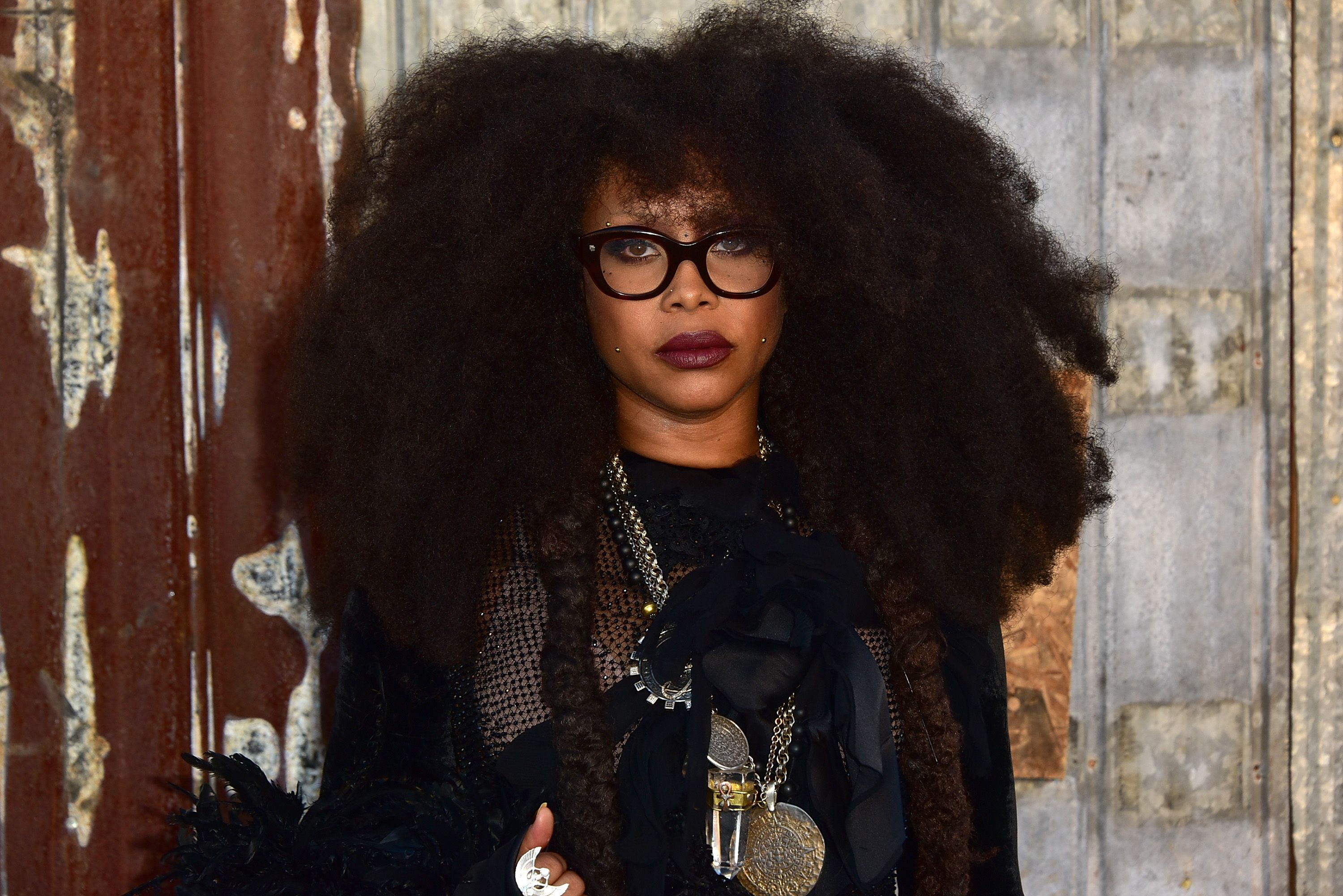 Erykah Badu at the Givenchy show during Spring 2016 New York Fashion Week | Source: Getty Images