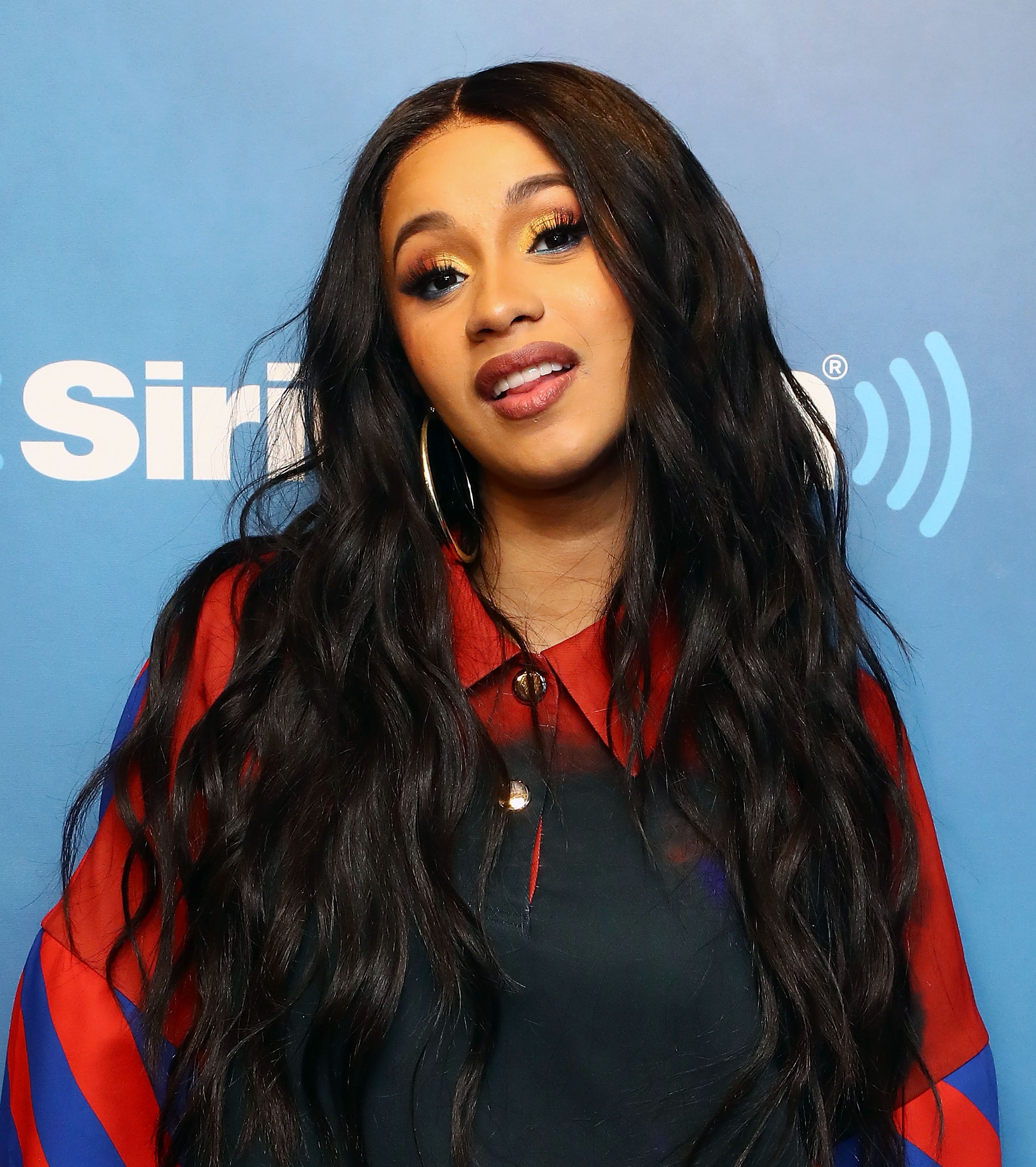 Rapper Cardi B at the SiriusXM Studios on April 10, 2018. | Source: Getty Images
