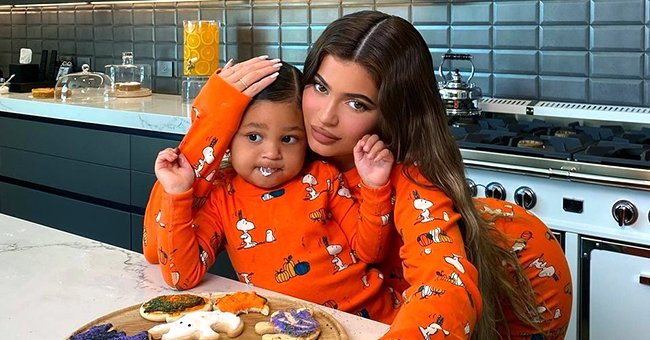 Kylie Jenner & Stormi Wear Matching Outfits as They Hug in Pics Celebrating Her New Collection