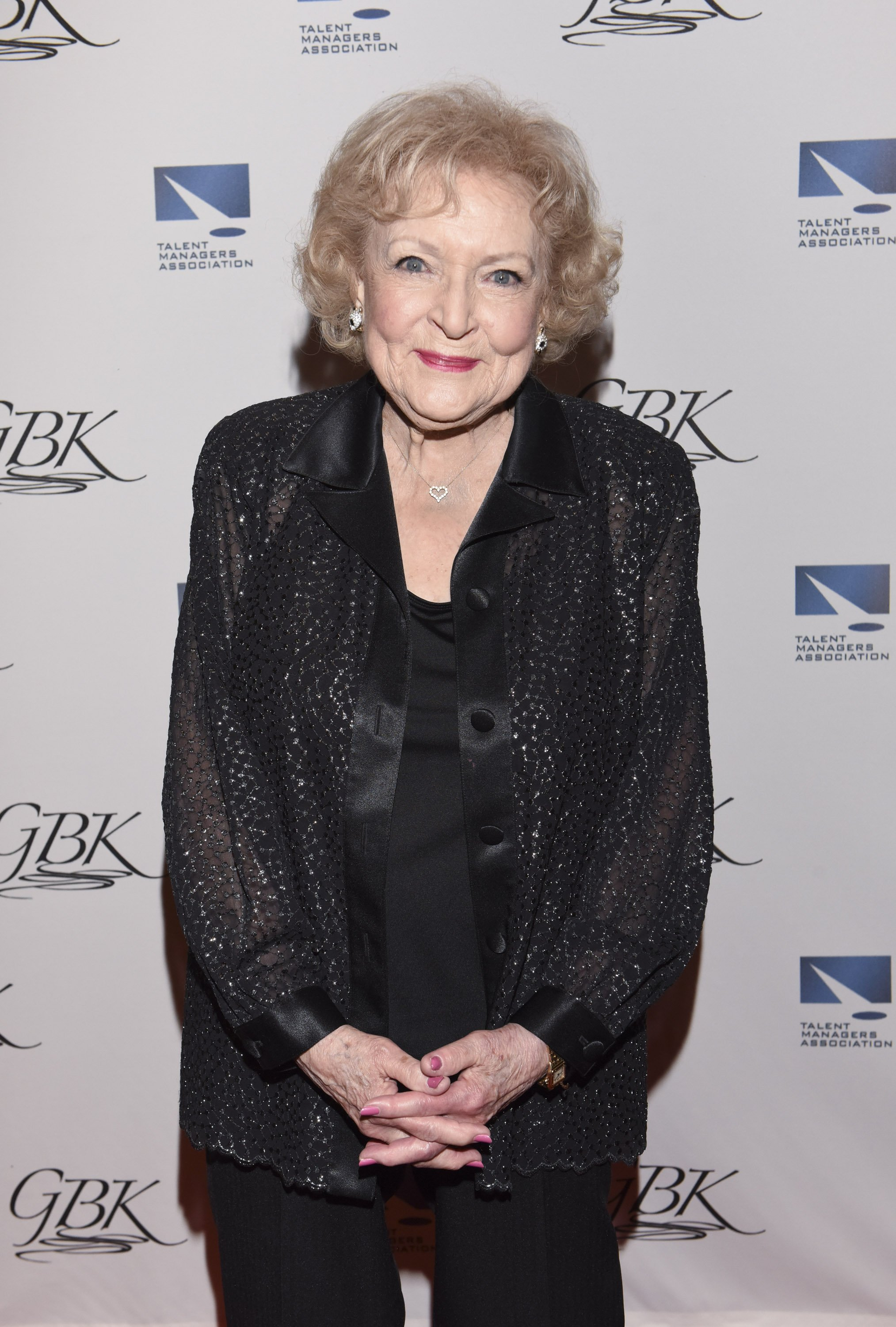 Betty White attends The TMA 2015 Heller Awards on May 28, 201,5 in Century City, California. | Source: Getty Images.