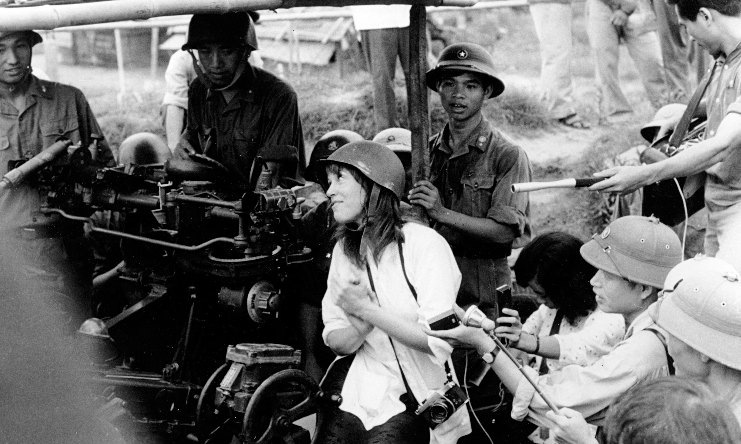 Jane Fonda in Hanoi, North Vietnam. | Source: Nihon Denpa News/AP