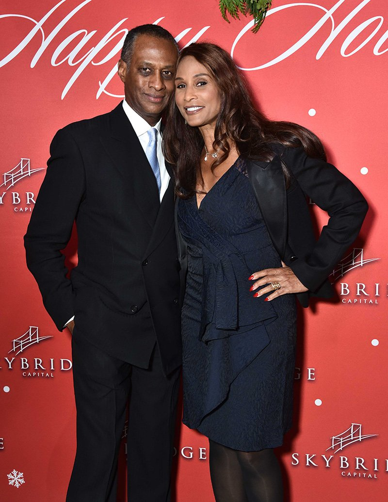 Brian Maillian and Beverly Johnson attend SkyBridge Capital Holiday Celebration at Hunt & Fish Club on December 14, 2016 in New York City. I Image: Getty Images.