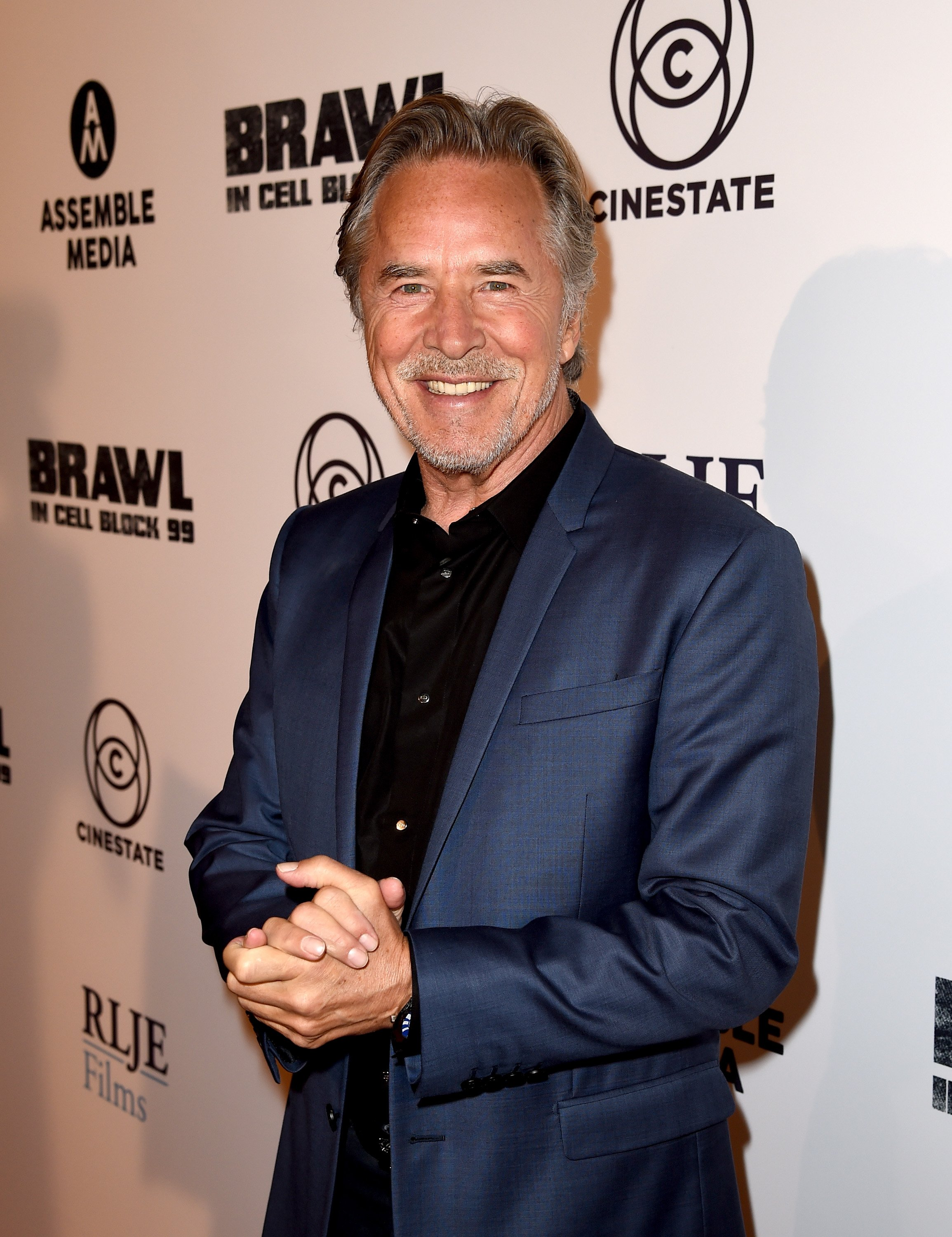 """Don Johnson attends the premiere of """"Brawl In Cell Block 99"""" in Los Angeles, California on September 29, 2017 