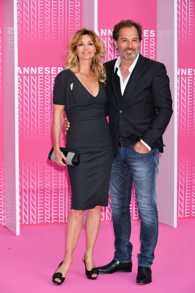 "Ingrid Chauvin et Thierry Peythieu assistent à la projection de ""Killing Eve"" et ""When Heroes Fly"" lors de la 1ère édition du Festival International de Série de Cannes au Palais des Festivals le 8 avril 2018 à Cannes, France. 