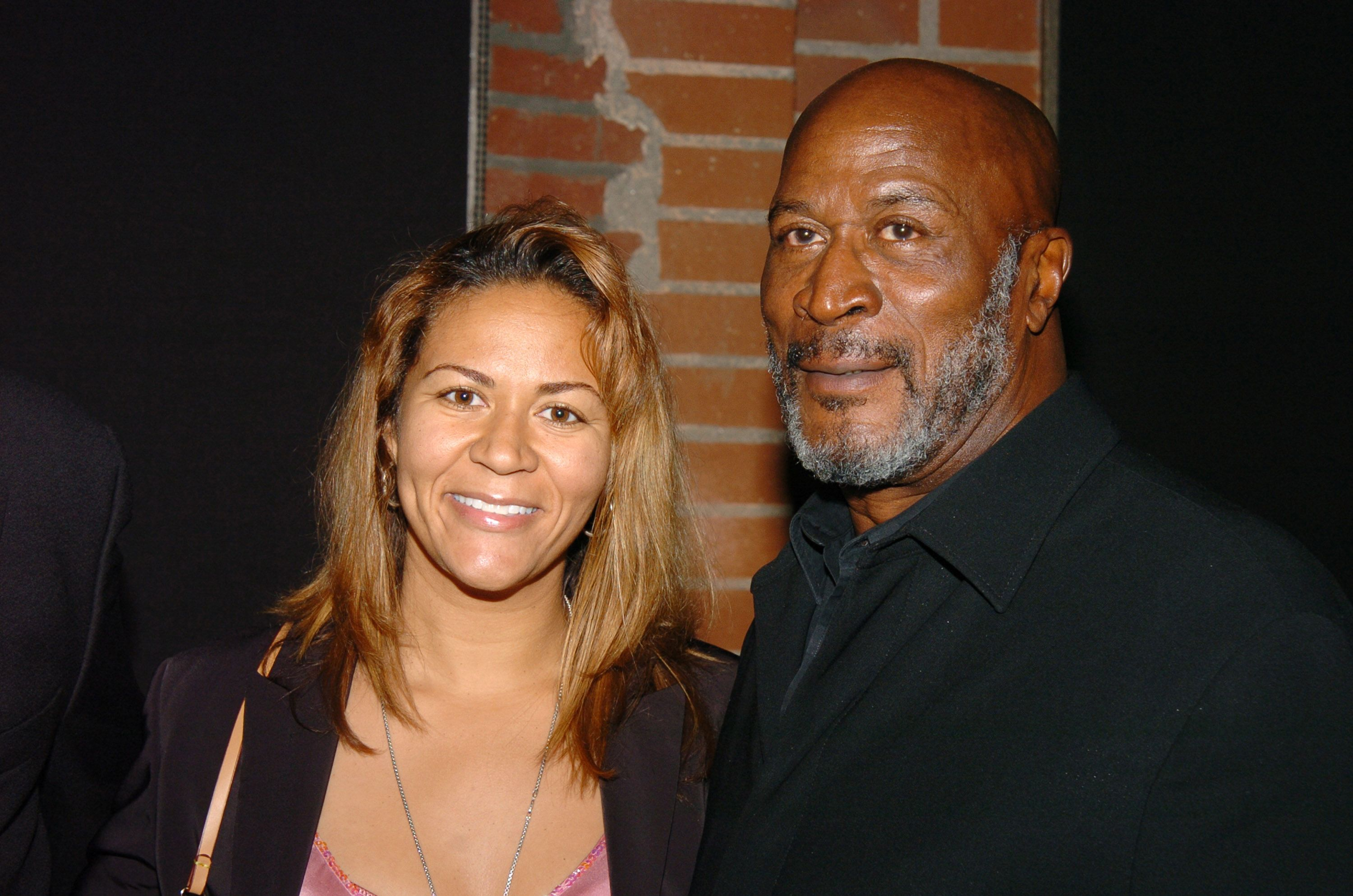 """John Amos and daughter Shannon at the after-party of Cure Autism Now's celebration of the 3rd annual """"Acts of Love"""" at Lucques Restaurant on November 8, 2004 
