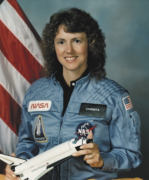 Official portrait of Christa McAuliffe released by NASA, circa 1985. | Photo: Getty Images