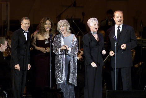 "Johnny Crawford, Amy Keys, Connie Stevens, Shirley Jones and Kelsey Grammer at the Academy of Television Arts and Science's ""Television Night at the Bowl"" at the Hollywood Bowl in Los Angeles on August 26, 2001. 