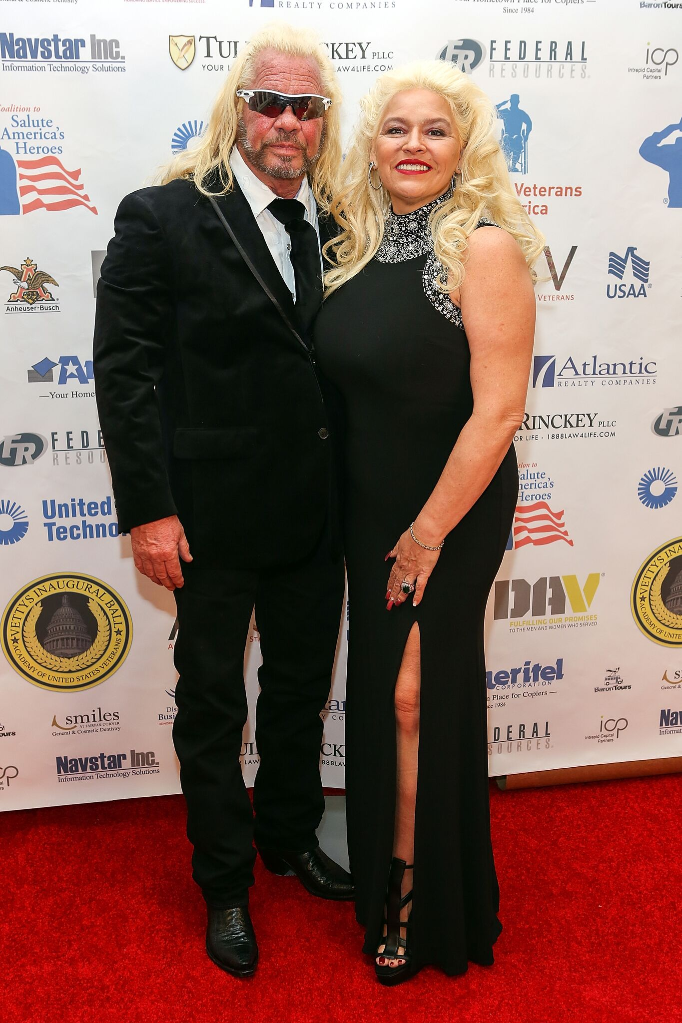 """Duane 'Dog the Bounty Hunter"""" Chapman (L) and Beth Chapman attend the Vettys Presidential Inaugural Ball  