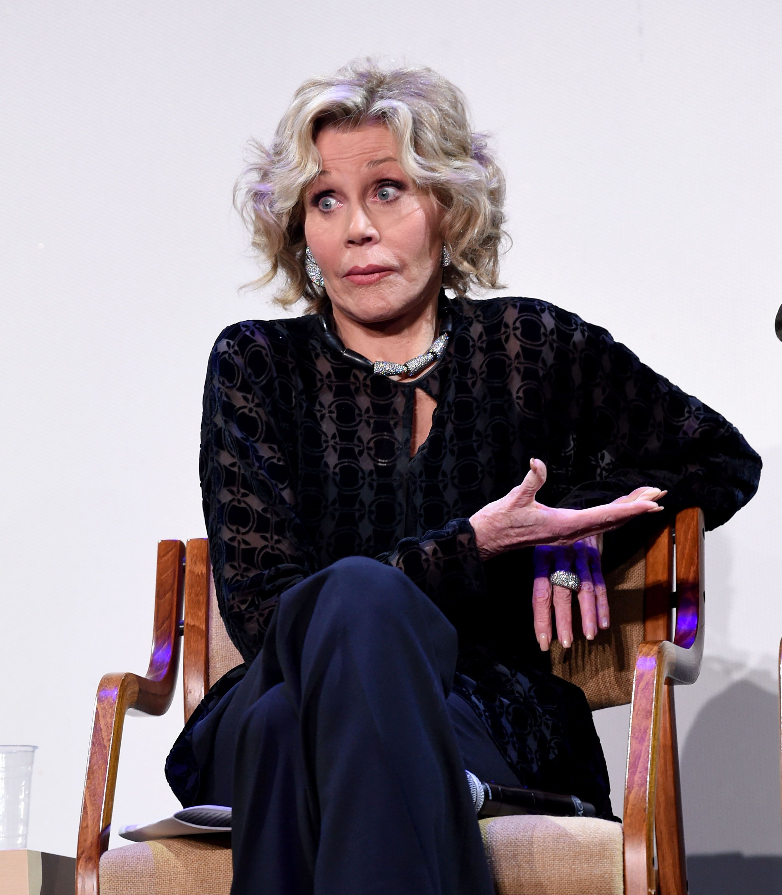 Jane Fonda appears onstage at the HFPA Film Restortion Summit: The Global Effort to Preserve Our Film Heritage at The Theatre at Ace Hotel on March 09, 2019 | Photo: Getty Images