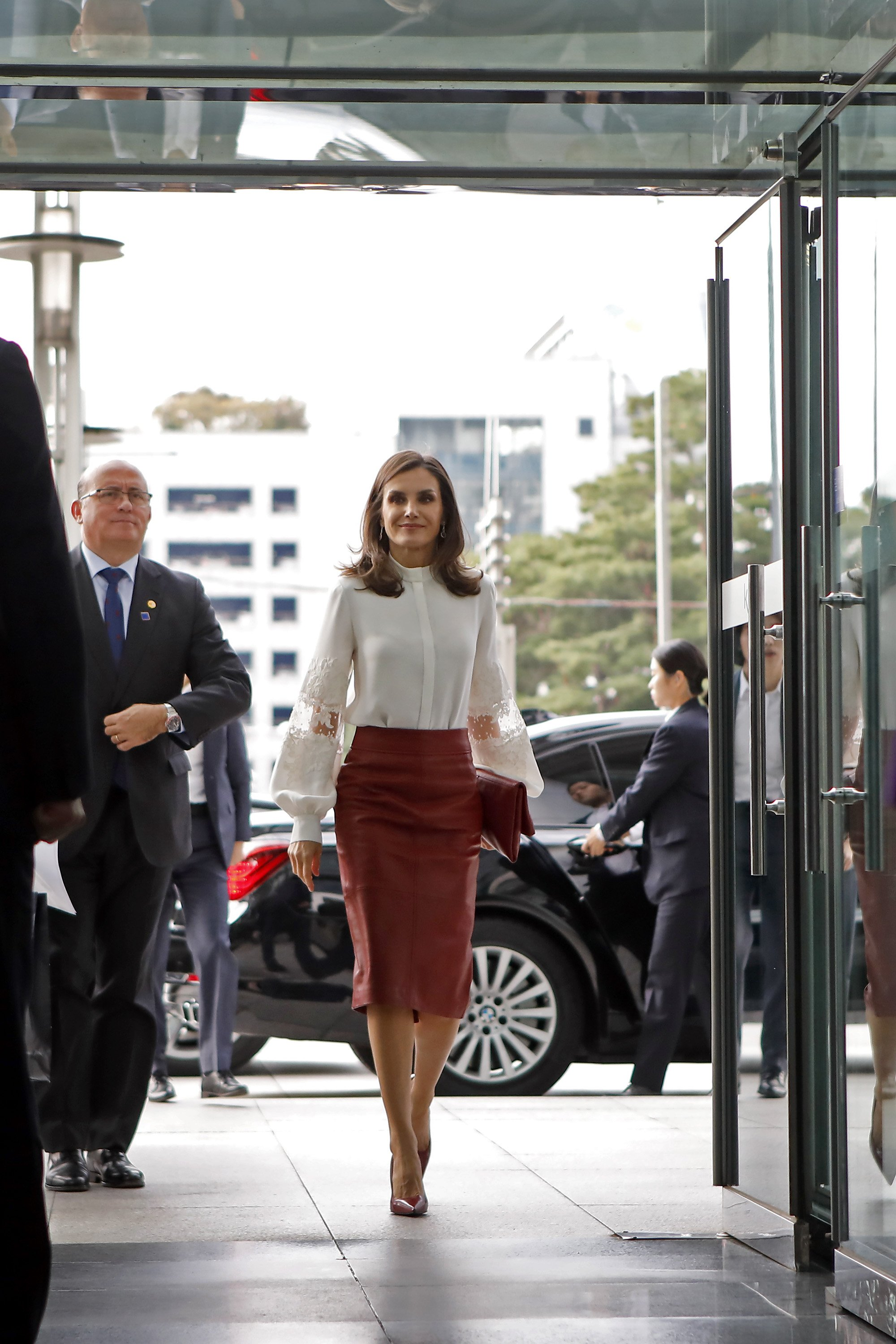 Queen Letizia of Spain arrives at KOTRA, on October 24, 2019 in Seoul, South Korea | Photo: Getty Images