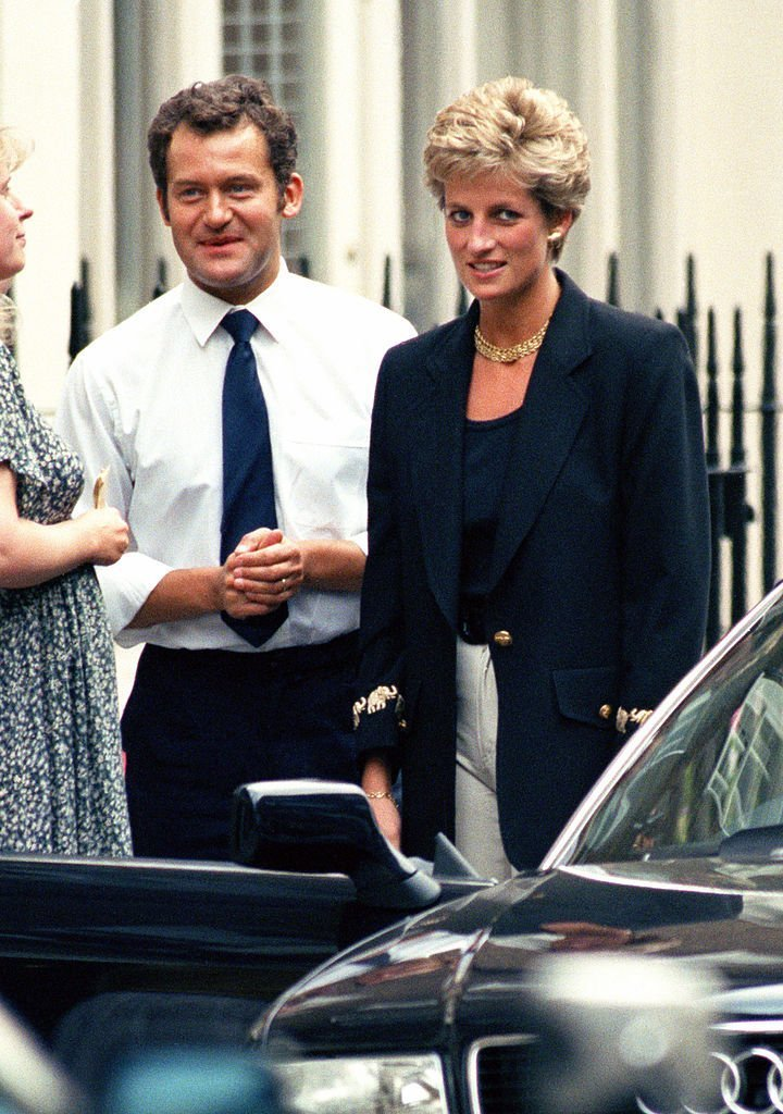 Diana, The Princess Of Wales, In London With Her Butler, Paul Burrell, In 1994 | Photo: GettyImages