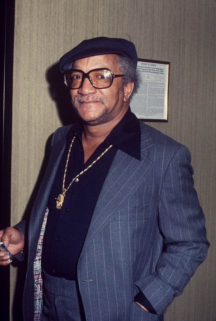 A portrait of Redd Foxx wearing a blue pinstriped suit in New York, circa 1970 | Photo: Getty Images