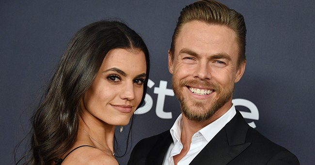 Watch DWTS' Derek Hough Blow up the Stage in a Fiery Dance Return with Girlfriend Hayley Erbert