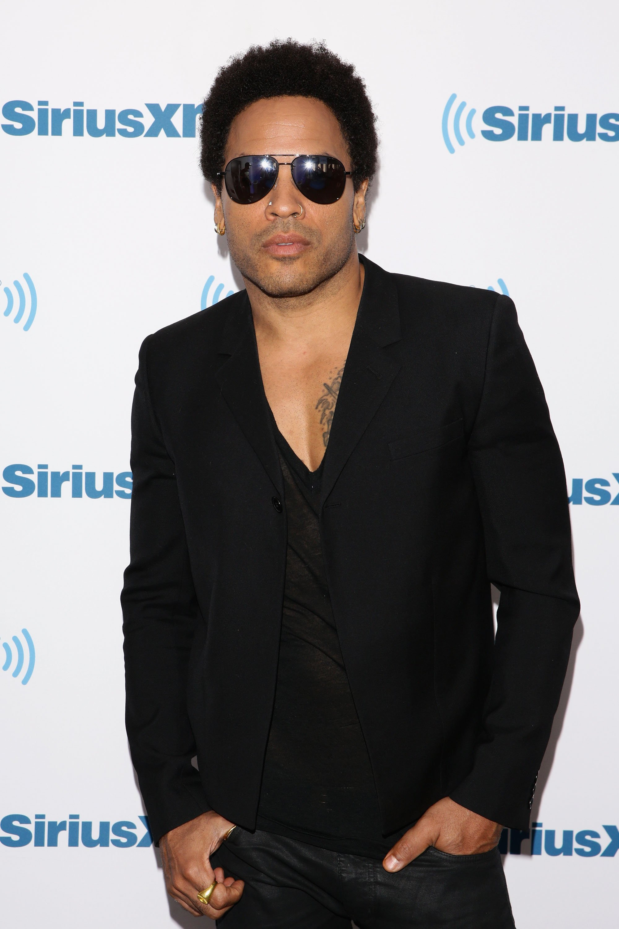 Lenny Kravitz lors de sa visite en 2014 aux studios SiriusXM de New York. | Photo: Getty Images