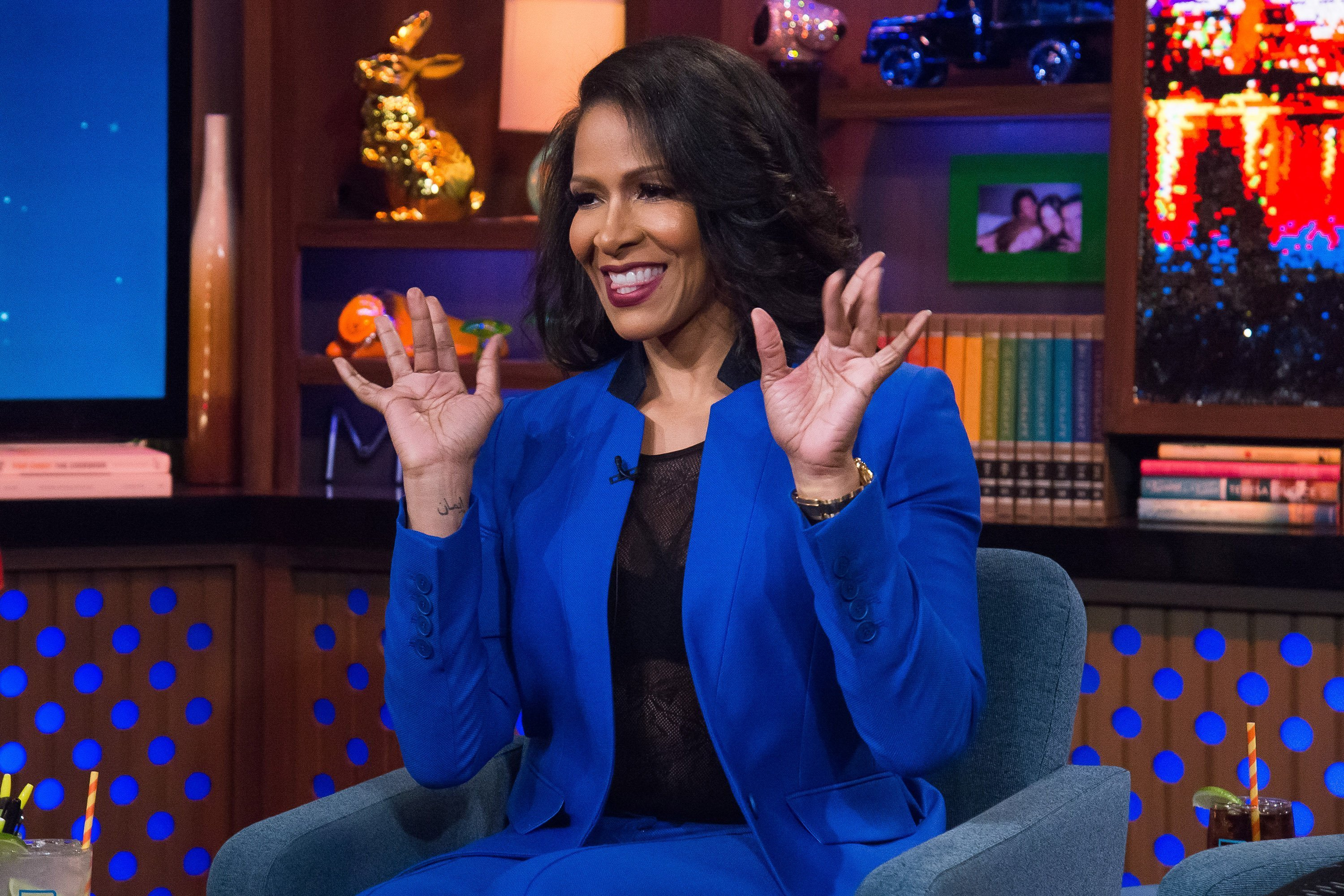 Sheree Whitfield during an appearance on WATCH WHAT HAPPENS LIVE WITH ANDY COHEN | Photo : Getty Images