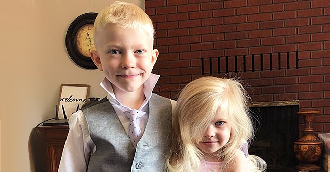 6-Year-Old Hero Saves His Little Sister's Life by Standing between Her and a Charging Dog
