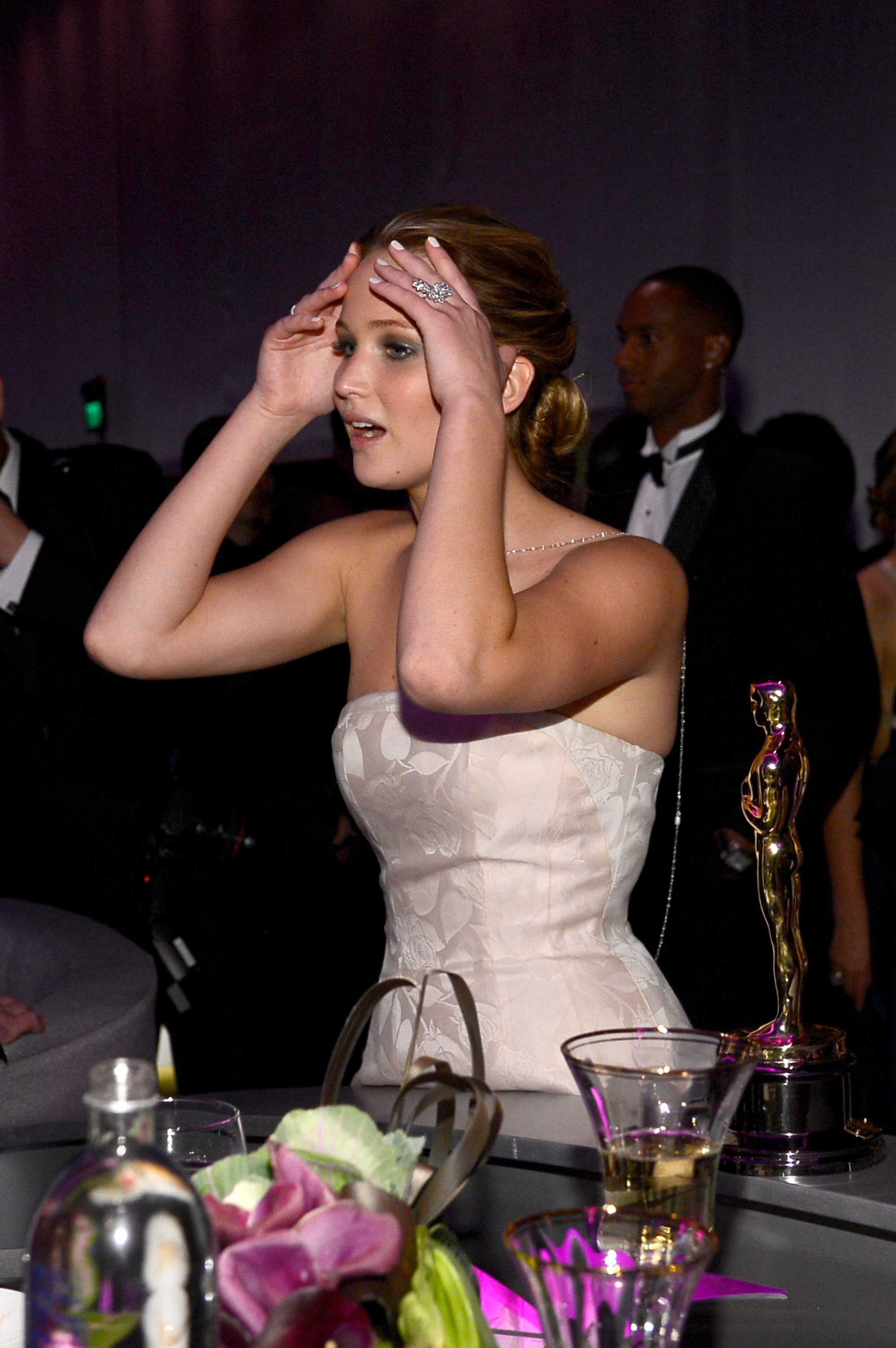 Jennifer Lawrence attends the Oscars Governors Ball in Hollywood, California on February 24, 2013 | Photo: Getty Images