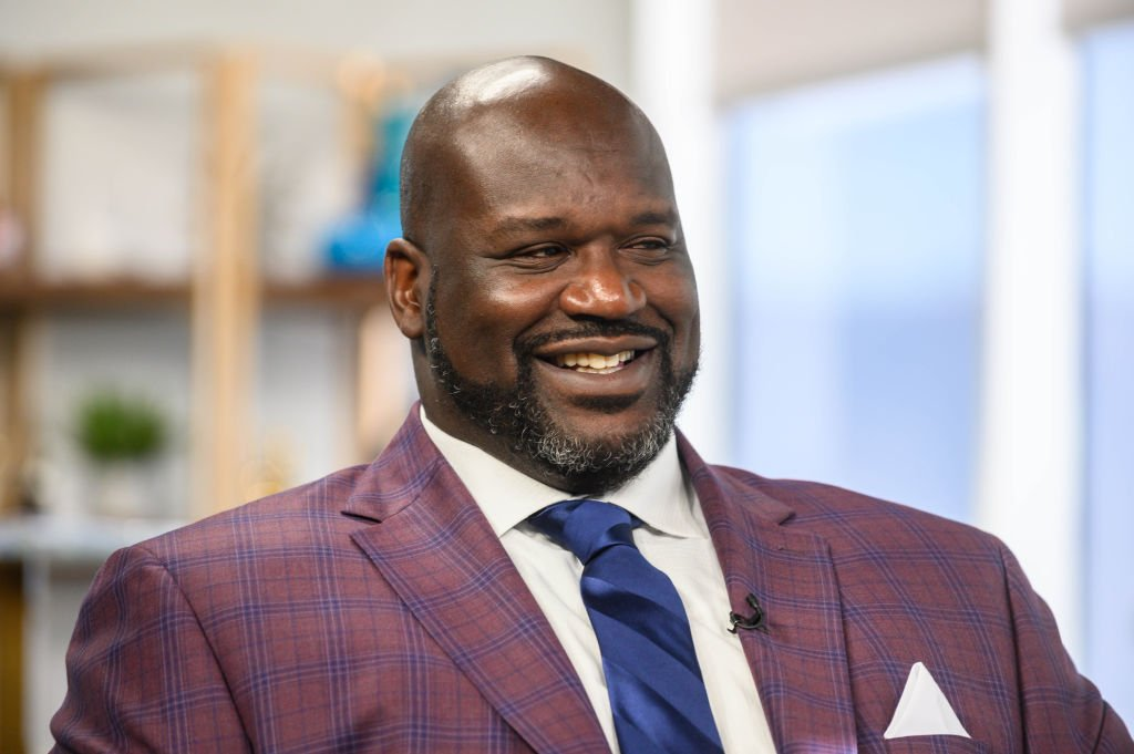 Daily Pop guest Shaquille O'Neal being interviewed | Photo: Getty Images