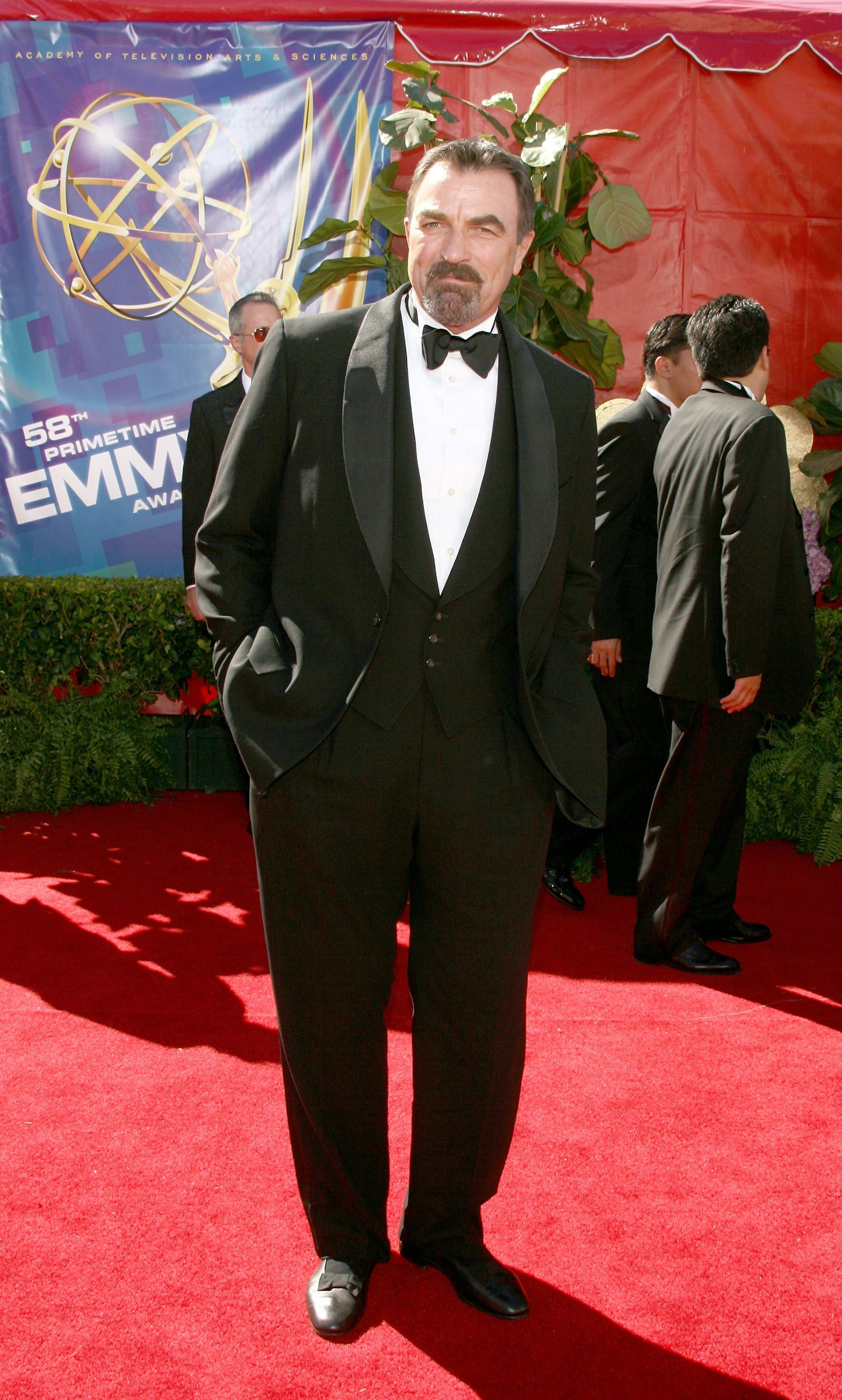 Tom Selleck at the 58th Annual Primetime Emmy Awards at the Shrine Auditorium on August 27, 2006 in Los Angeles, California. | Source: Getty Images
