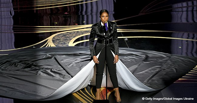 Jennifer Hudson 'Hits a Bad Note' at the Oscars While Confusing Fans with Her Pantsuit-Dress Combo