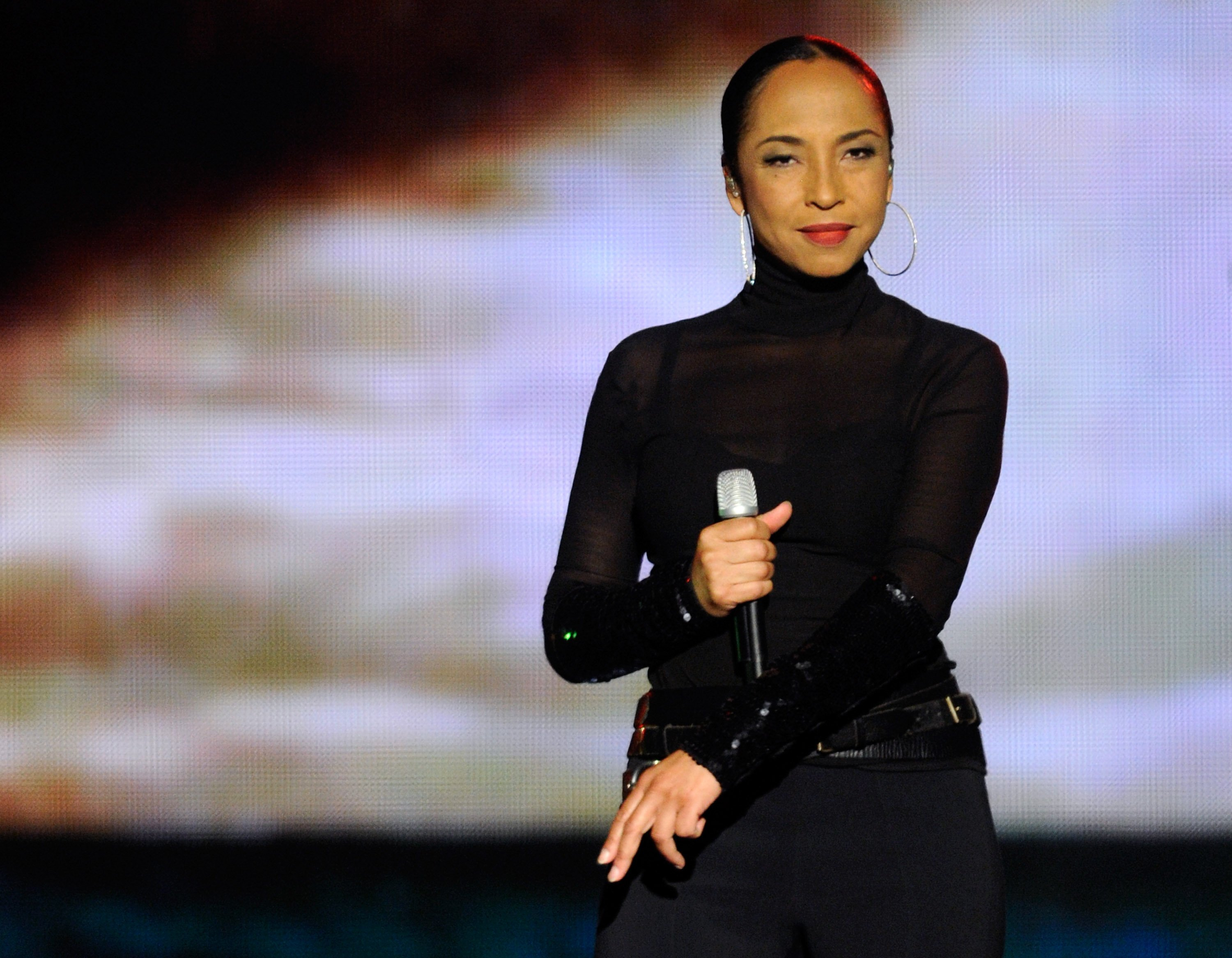 Sade on stage at the MGM Grand Garden Arena September 3, 2011 in Las Vegas, Nevada.   Source: Getty Images