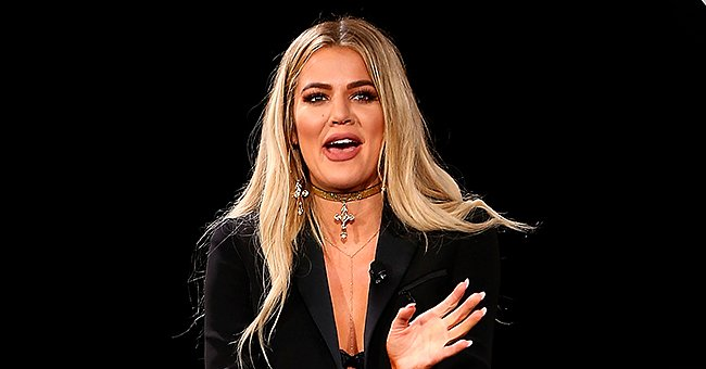 Khloe Kardashian speaking on the panel at Conversation: Liberty and Denim For All in California, 2016 | Photo: Getty Images