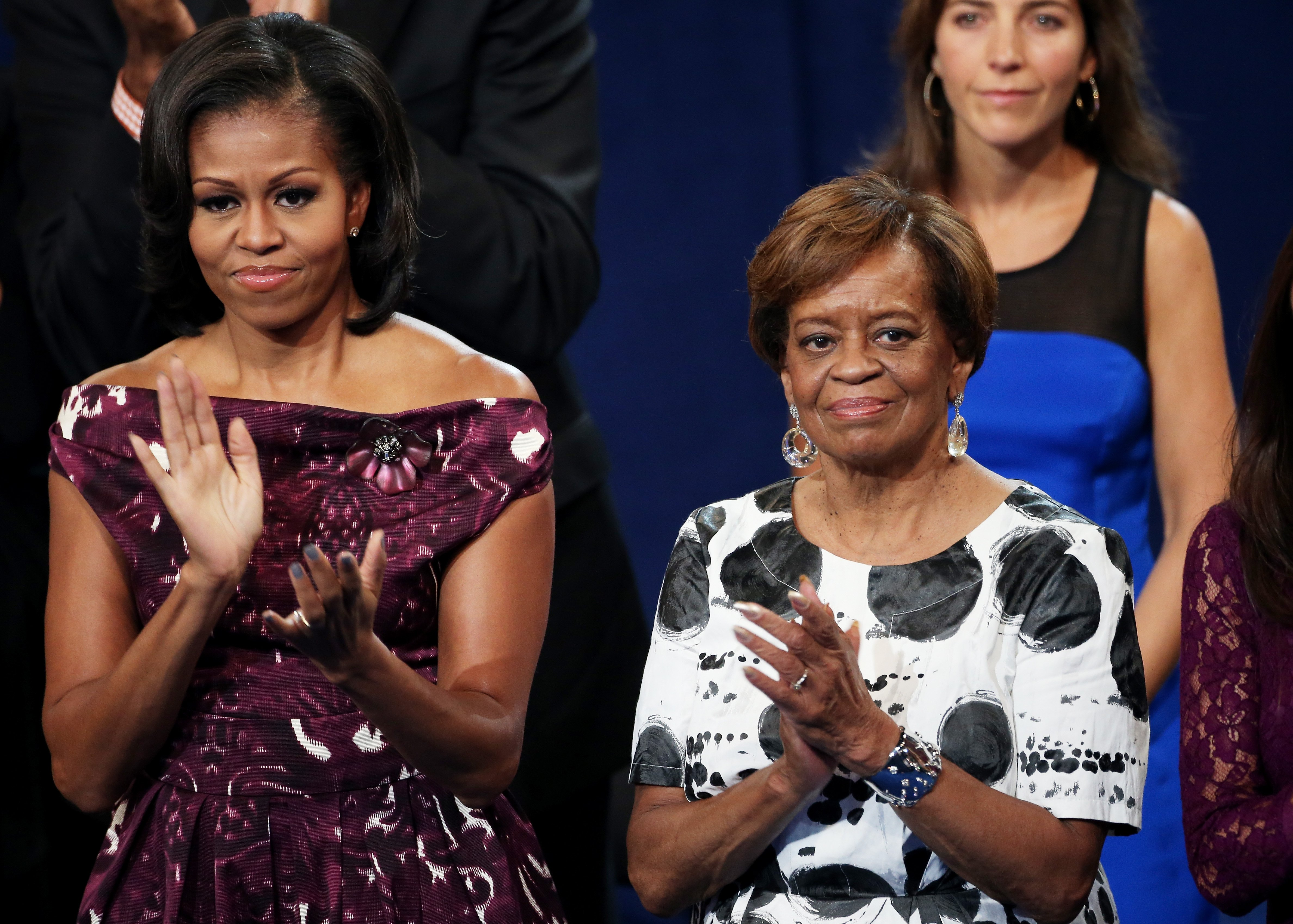 Michelle Obama with her mother Marian Robinson during the Democratic National Convention at Time Warner Cable Arena on September 6, 2012 | Photo: GettyImages