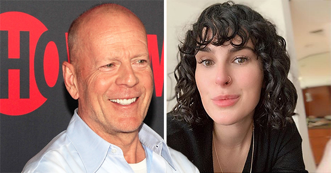 Bruce Willis' Daughter Rumer Shares Photo in Orange Bikini to Spread a Message of Self-Love