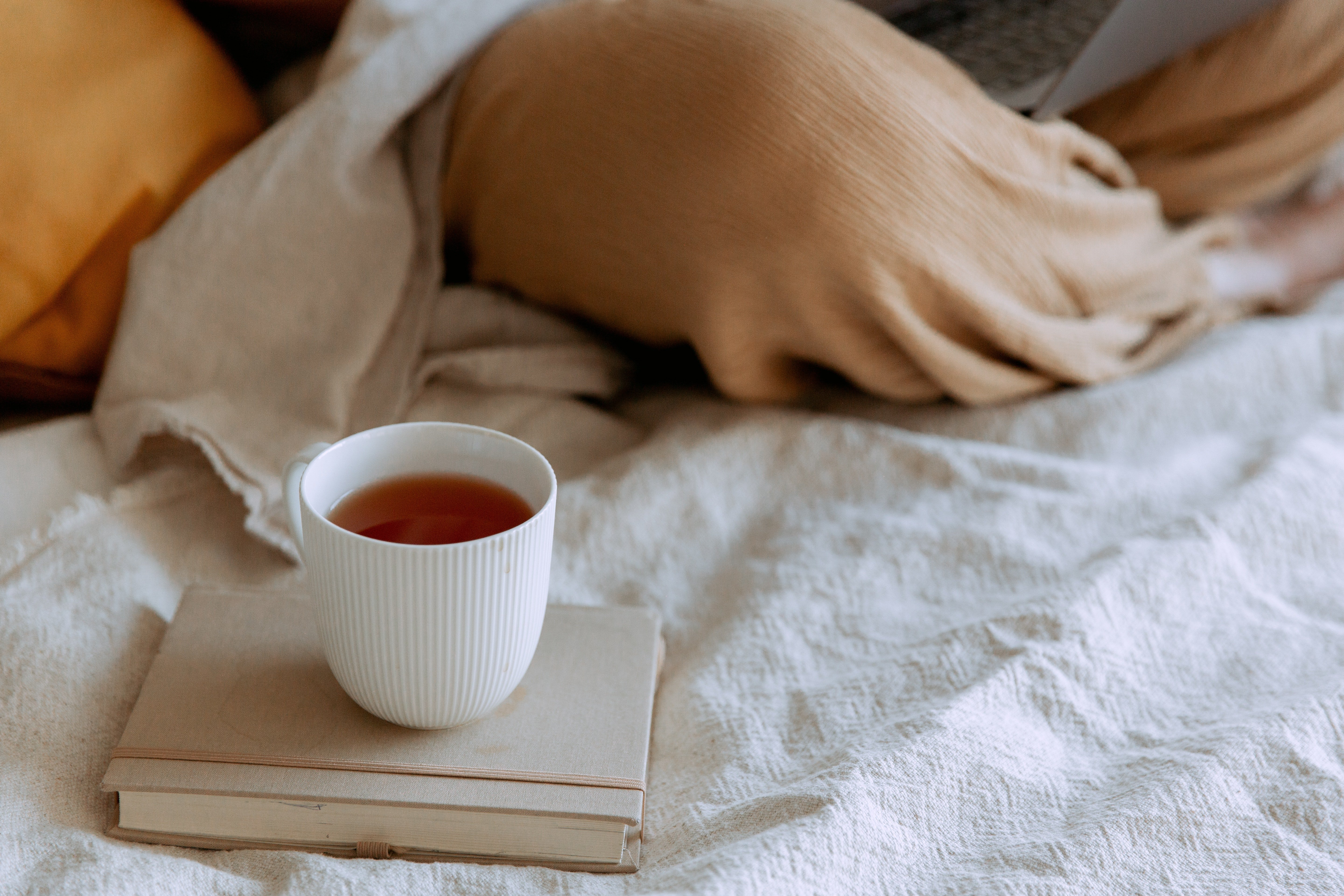 I made myself a cup of tea and went back to bed. | Source: Pexel