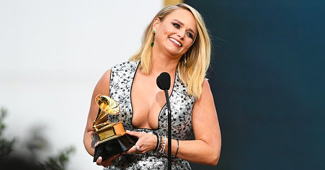 Miranda Lambert Looks Gorgeous Rocking a Plunging Silver Gown as She Accepts Her Grammy Award