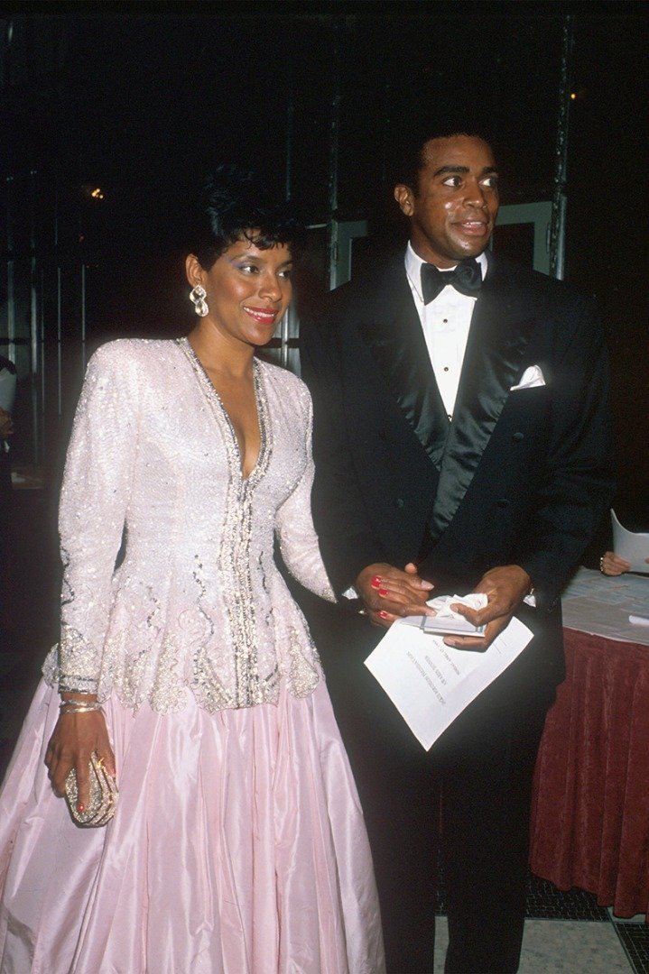 Phylicia Rashad and Ahmad Rashad at an event in New York City in April 1989. I Image: Getty Images.