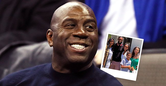 Magic Johnson & His Family Strike Poses with His Granddaughter in All White on Her Graduation