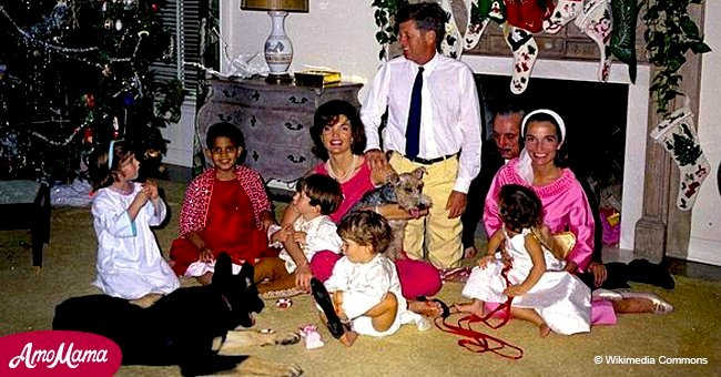 Close look at JFK's last Christmas in 1962 with his young children and family