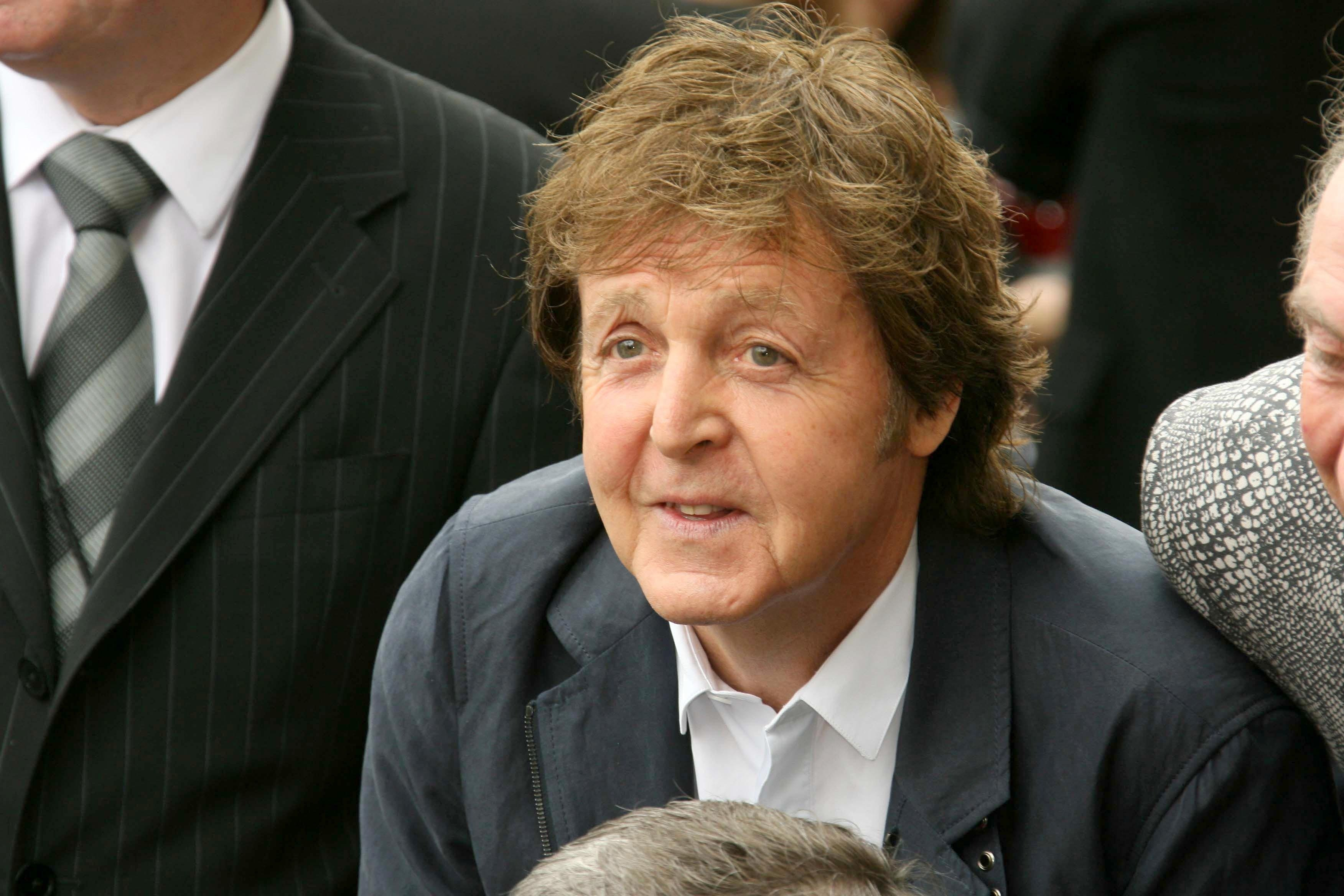 Paul McCartney during a 2009 ceremony on the Hollywood Walk of Fame.   Photo: Shutterstock