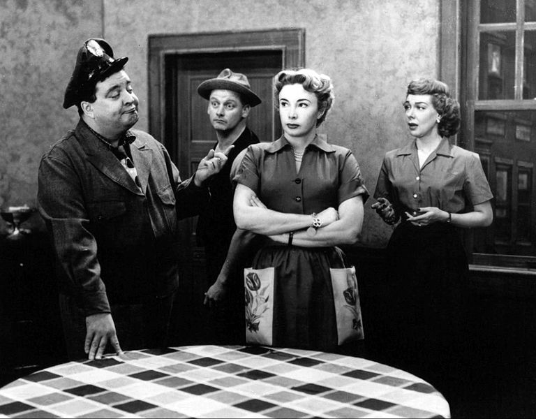 "Photo of the full cast of ""The Honeymooners."" 