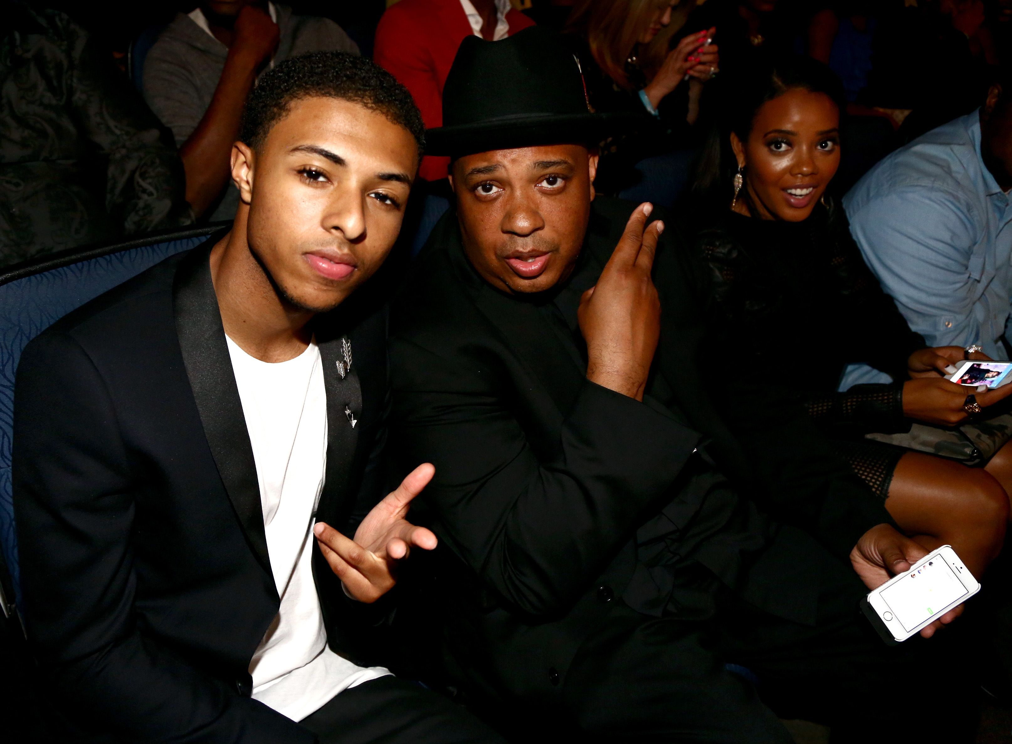 Diggy Simmons and Rev Run at the BET Awards in 2014 in Los Angeles | Source: Getty Images