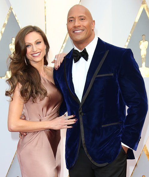 Dwayne Johnson and Lauren Hashian arrive at the 89th Annual Academy Awards | Image: Getty Images
